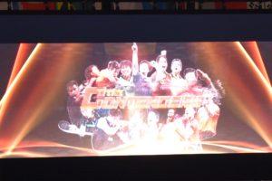 大型スクリーンでは、クールな動画が流されていました